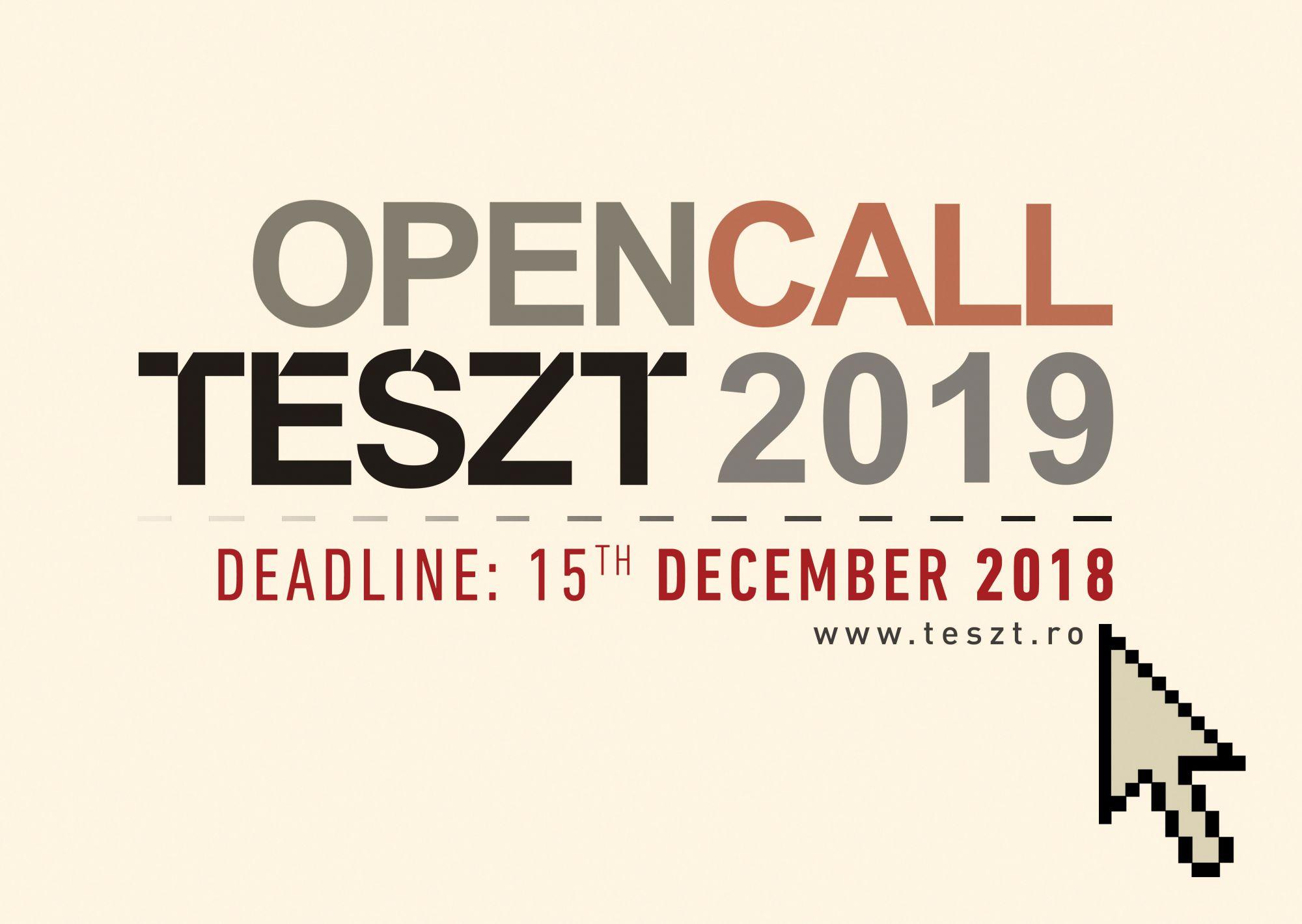 NYÍLT FELHÍVÁS: előadások jelentkezését várjuk a TESZT 2019-es kiadására
