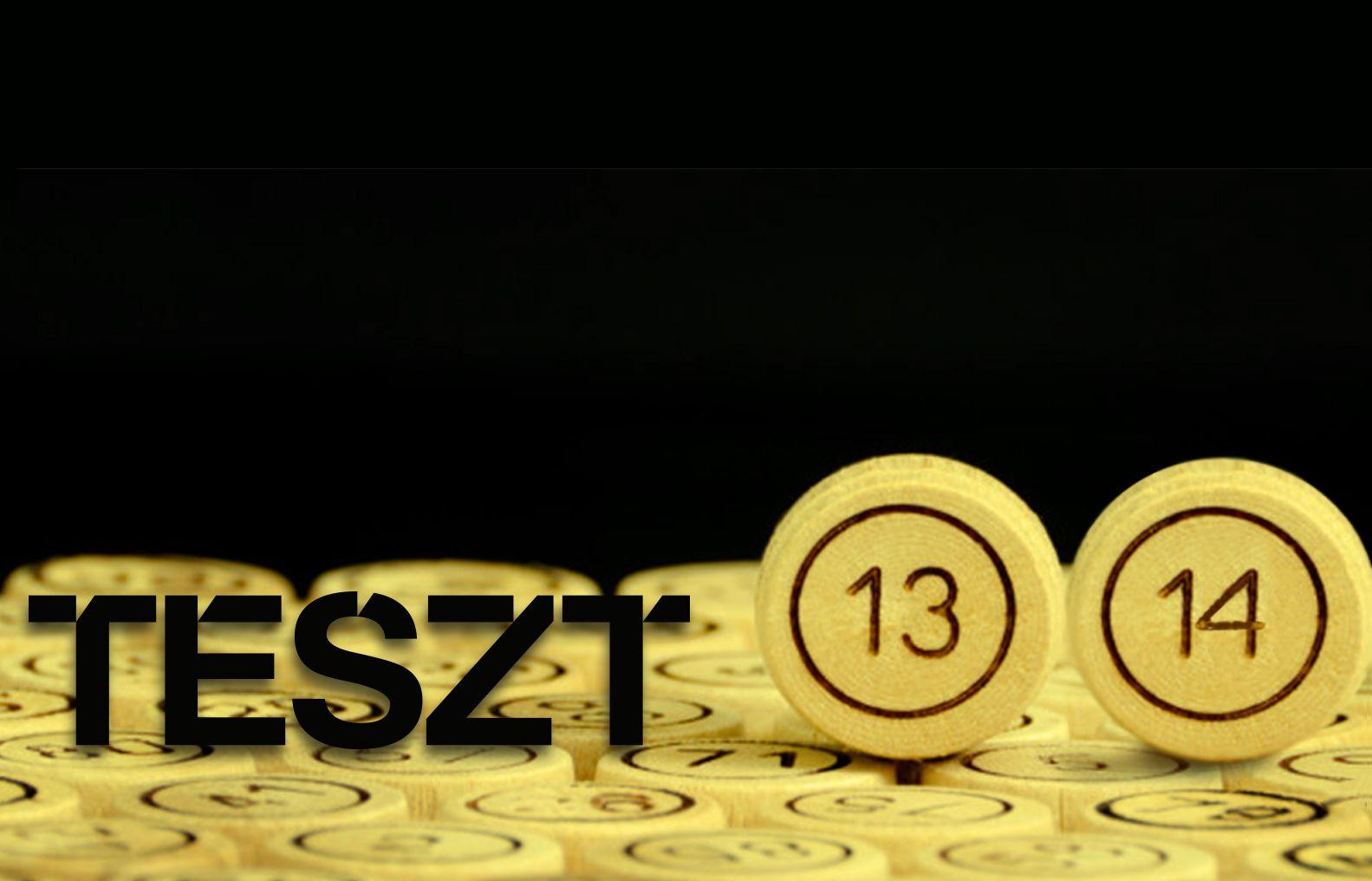 TESZT #13 se anulează