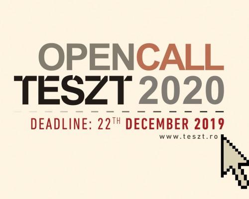 NYÍLT FELHÍVÁS: előadások jelentkezését várjuk a TESZT 2020-es kiadására